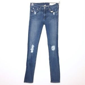 Rag & Bone Distressed Skinny Jeans Size 27